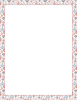 Ancho clipart border jpg freeuse download Anchor Border   Page borders   Borders, frames, Page borders ... jpg freeuse download