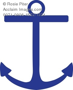 Anchor and sailboat clipart svg freeuse stock Clip Art Illustration Of A Dark Blue Boat Anchor svg freeuse stock