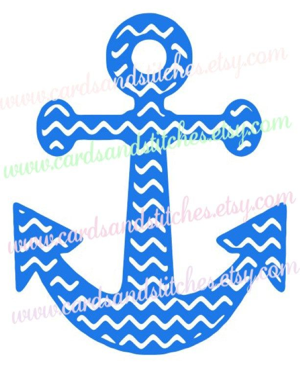 Anchor chevron clipart black and white stock Chevron Anchor SVG - Anchor SVG - Nautical Clipart - Svg, Dxf, Jpg ... black and white stock