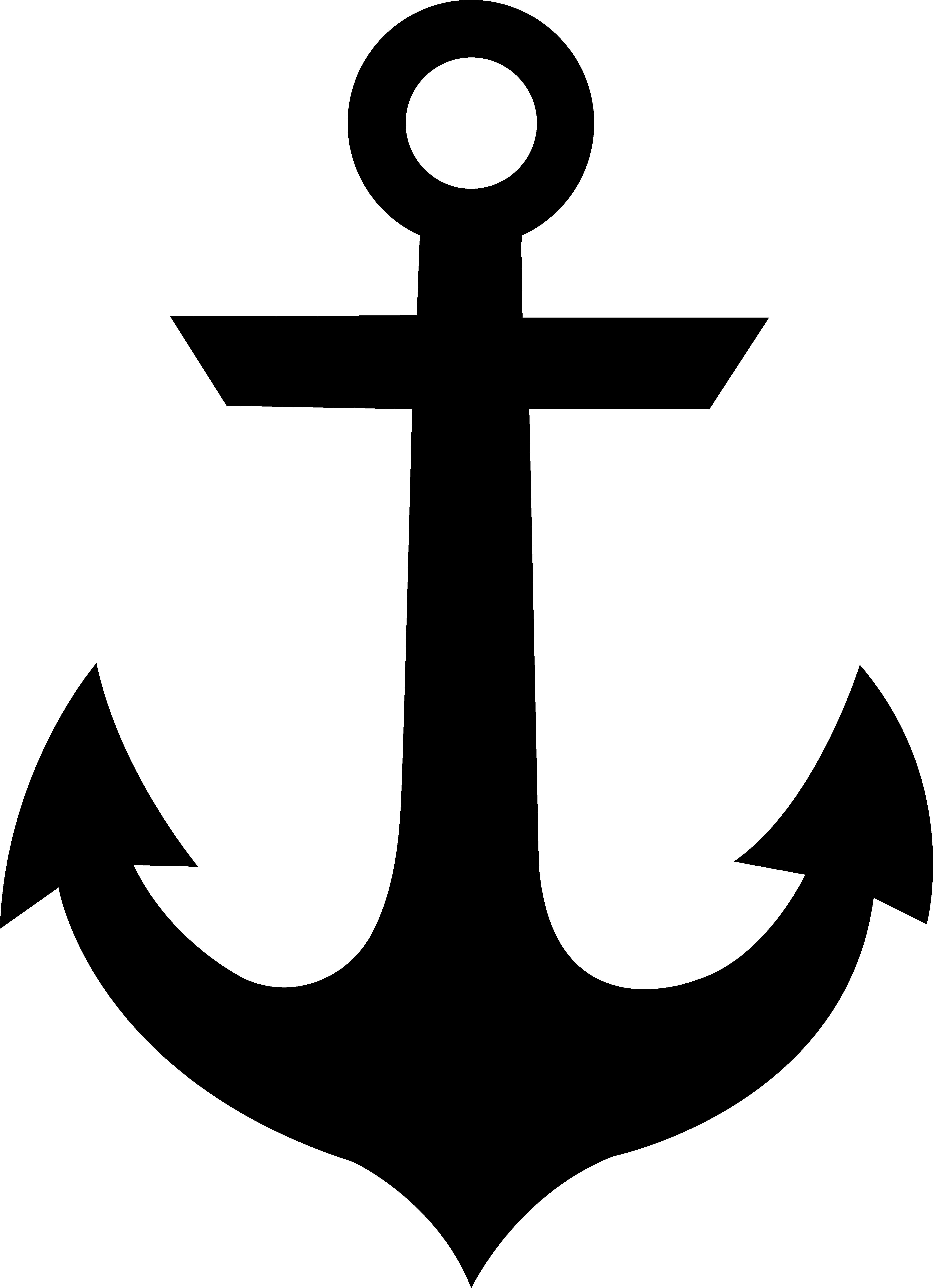 Clipart anchor free transparent Black Anchor Silhouette - Free Clip Art transparent
