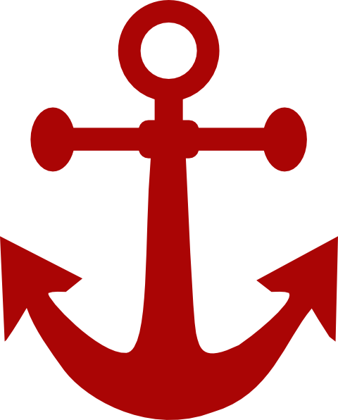 Anchor clipart red