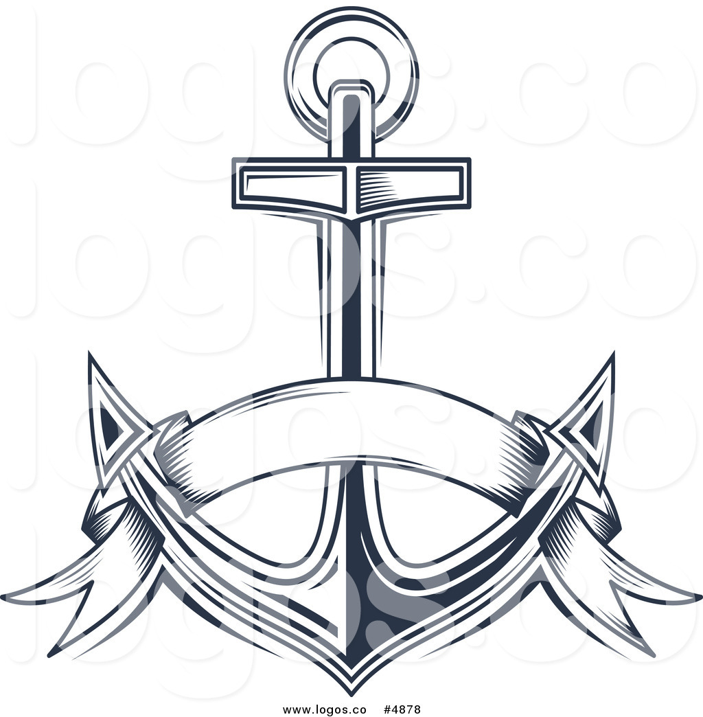 Anchor with banner clipart svg download Royalty Free Vector of a Blue Anchor and Banner Logo by Vector ... svg download