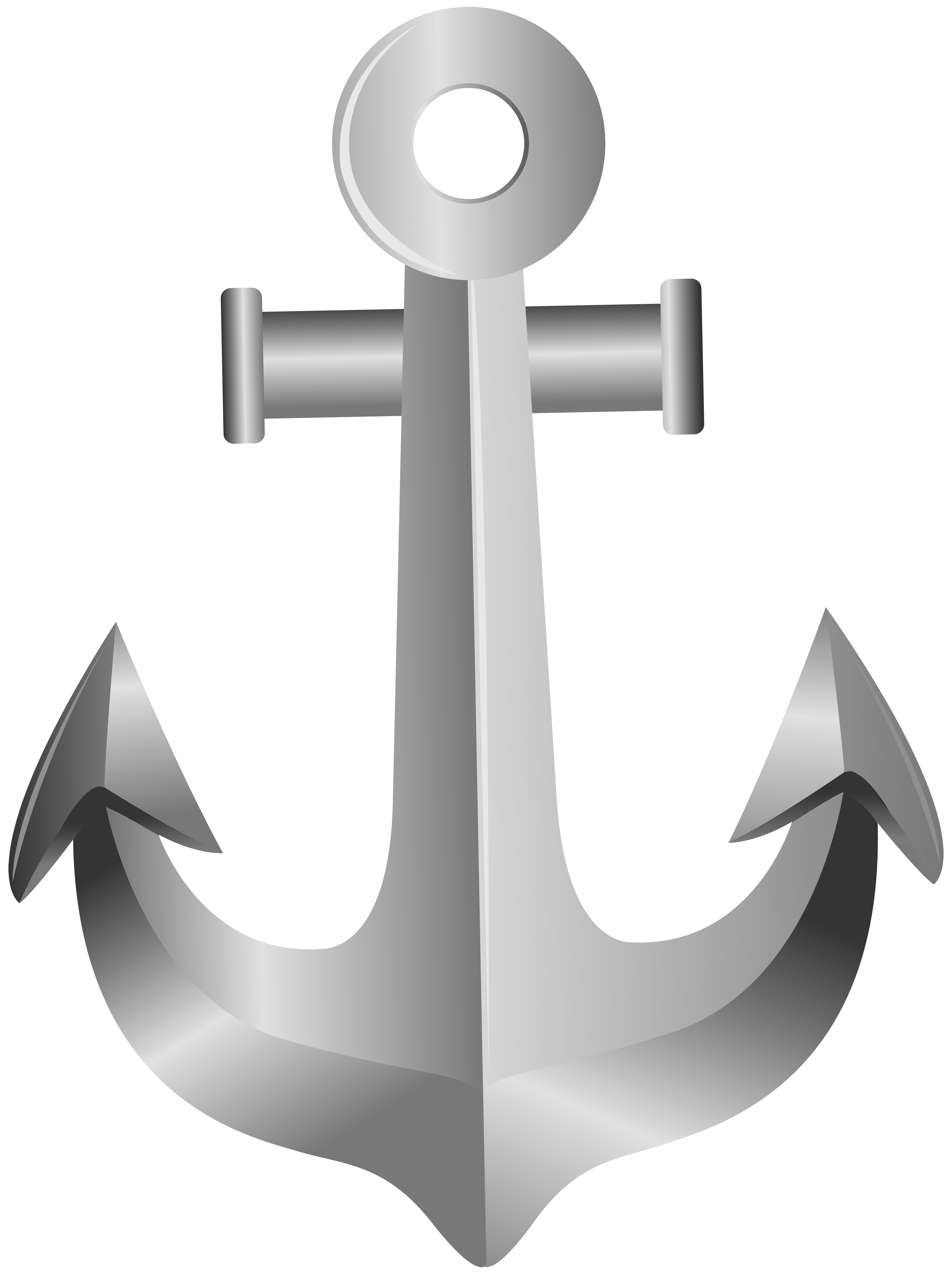 Silver cross clipart png picture black and white Silver Anchor PNG Clip Art | Gallery Yopriceville - High-Quality ... picture black and white