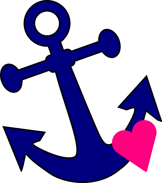 Anchor with heart clipart vector free Anchor With Heart Clip Art at Clker.com - vector clip art online ... vector free