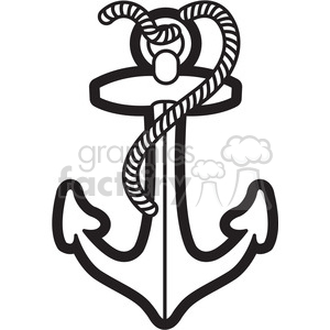 Anchor with rope clipart clip art royalty free library boat anchor with rope graphic illustration black white clipart.  Royalty-free clipart # 398074 clip art royalty free library