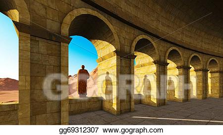 Ancient archway clipart png black and white Stock Illustration - Ancient archway. Clipart Illustrations ... png black and white