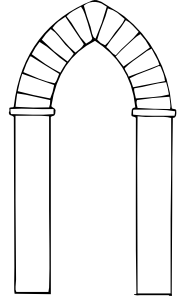 Ancient archway clipart clipart free stock Arch Types Clip Art at Clker.com - vector clip art online, royalty ... clipart free stock