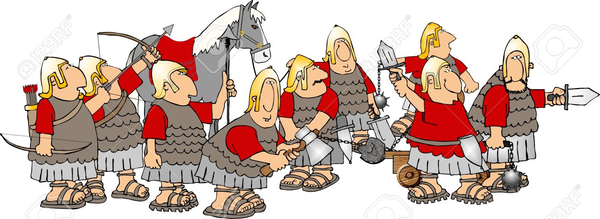 Ancient army clipart