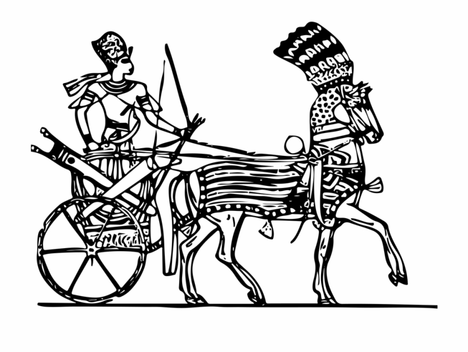 Ancient cart clipart banner library library Line Art Drawing Ancient Chariot Horse And Cart - Egyptian Chariot ... banner library library