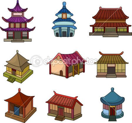 China house roof cliparts banner transparent download cartoon Chinese house icon set | Ninja in 2019 | Home icon, Cartoon ... banner transparent download