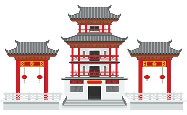 Ancient chinese temple clipart png library Chinese Temple Drawing at PaintingValley.com   Explore collection of ... png library