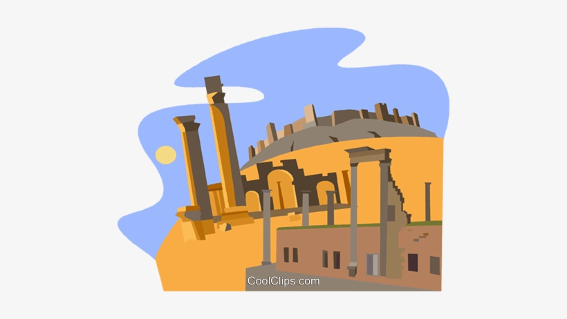 Ancient cities clipart graphic free Syria, Ancient City Of Bosra Royalty Free Vector Clip - Ancient City ... graphic free