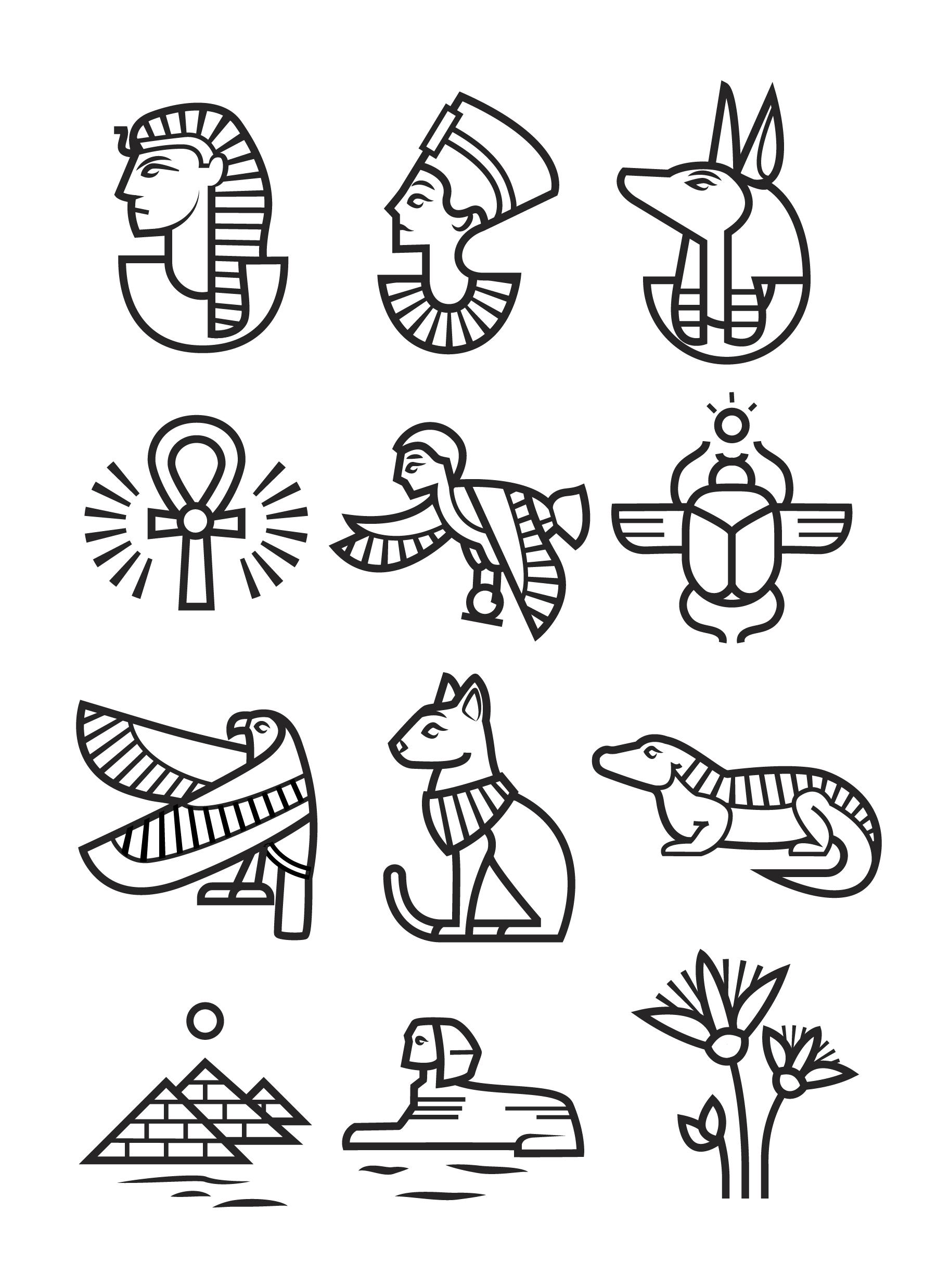 Ancient egypt clipart black and white jpg black and white library Janine Bushey   Portfolio jpg black and white library