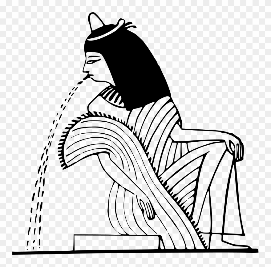Ancient egypt clipart black and white png transparent stock Medium Image - Ancient Egyptian Line Art Clipart (#882715) - PinClipart png transparent stock