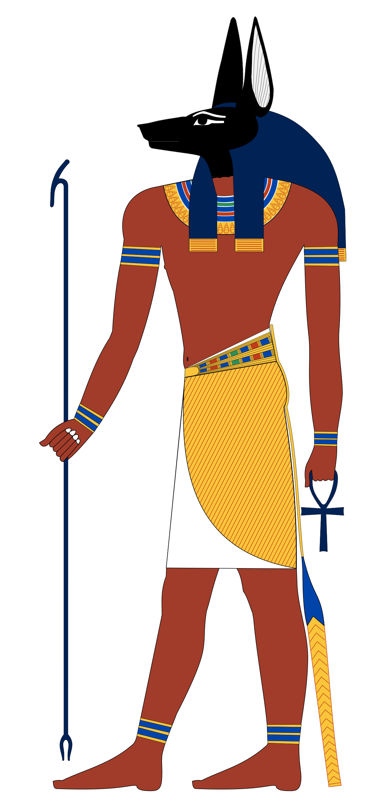Ancient egypt painting clipart banner black and white stock Anubis - Wikipedia banner black and white stock