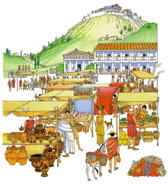 Ancient greece agora clipart clip free library Ancient Greek Life : simplebooklet.com clip free library
