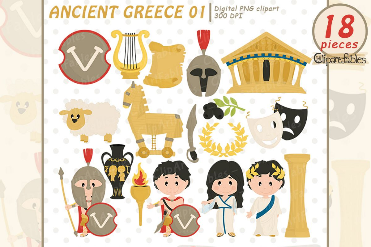 Ancient greece clipart market place vector free Ancient Greece clipart, Travel clip art, Sparta -digital art vector free