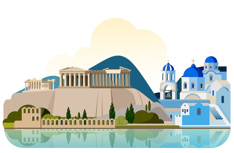 Ancient greece clipart market place graphic black and white download 10 Best Places to Visit in Greece (with Photos & Map) - Touropia graphic black and white download