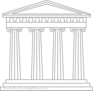 Ancient greek architecture clipart graphic freeuse cartoon drawings of greek gods | Clip Art Of A Greek Temple | Stuff ... graphic freeuse