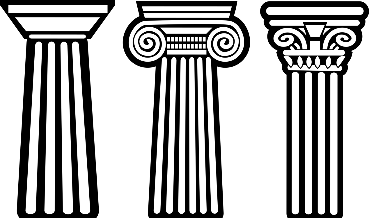 Clipart coiulnn graphic black and white library Symmetry,Column,Monochrome Photography Vector Clipart - Free to ... graphic black and white library