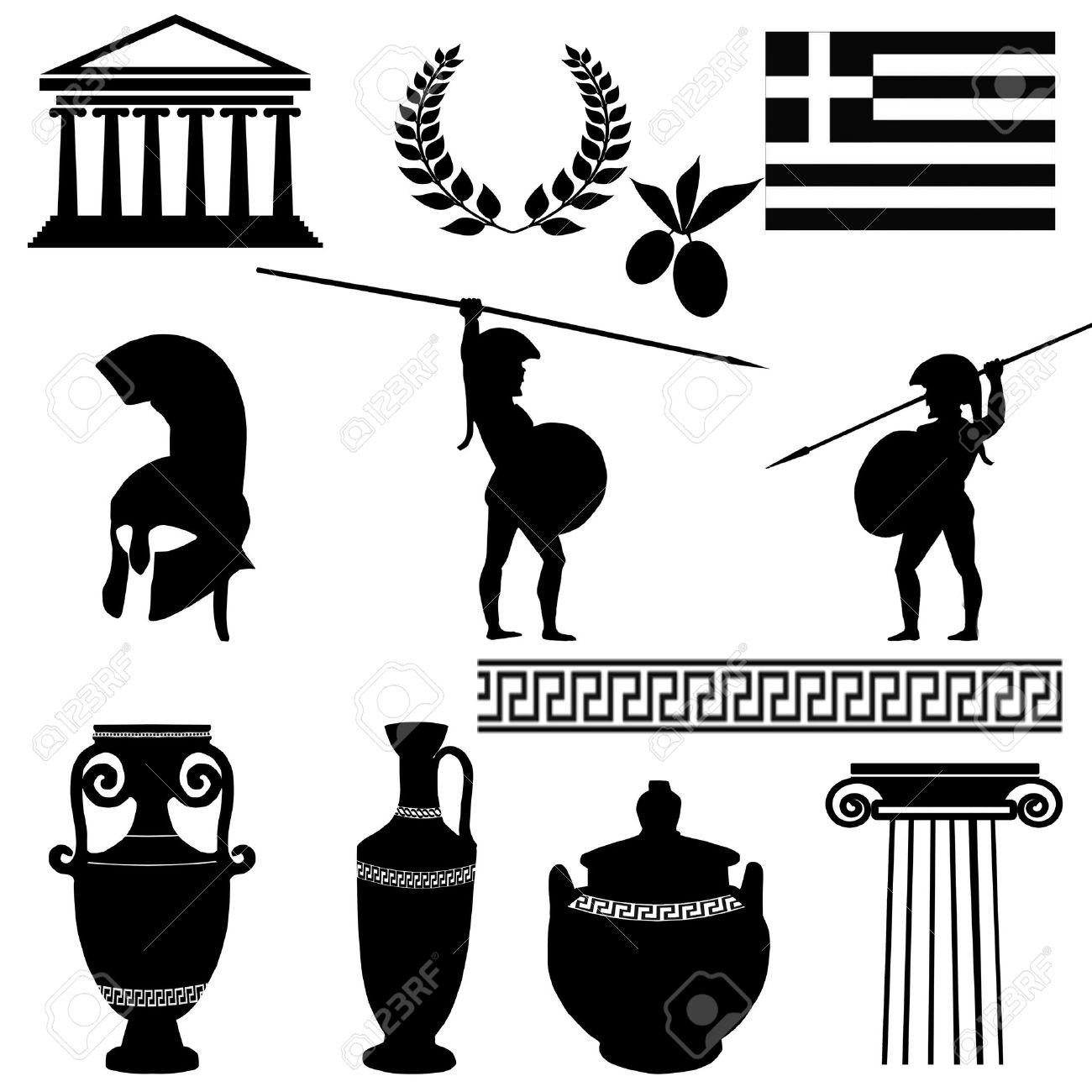 Ancient greek logo clipart png library library 5,907 Ancient Greece Stock Vector Illustration And Royalty Free ... png library library