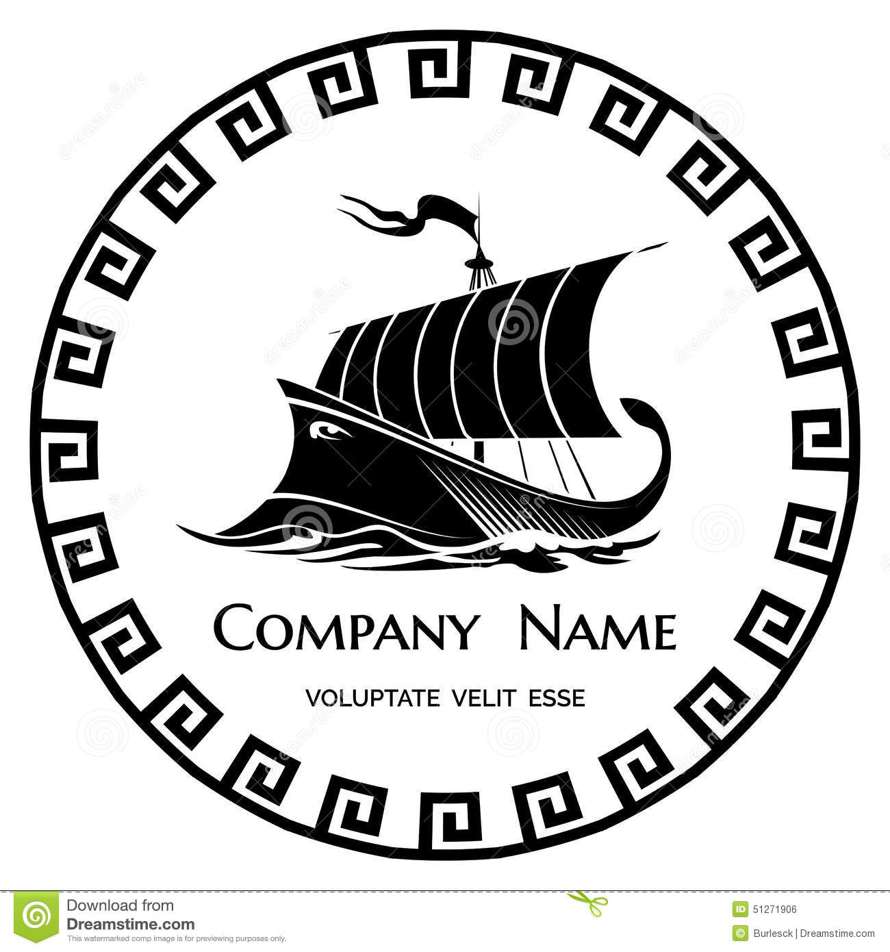 Ancient greek logo clipart graphic Ancient Greek Galley Logo Icon Stock Vector - Image: 51271906 graphic