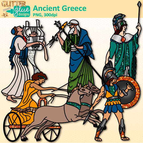 Ancient greek olympics clipart graphic black and white stock Ancient Greece Clip Art   Teacher Clip Art   Glitter Graphics graphic black and white stock