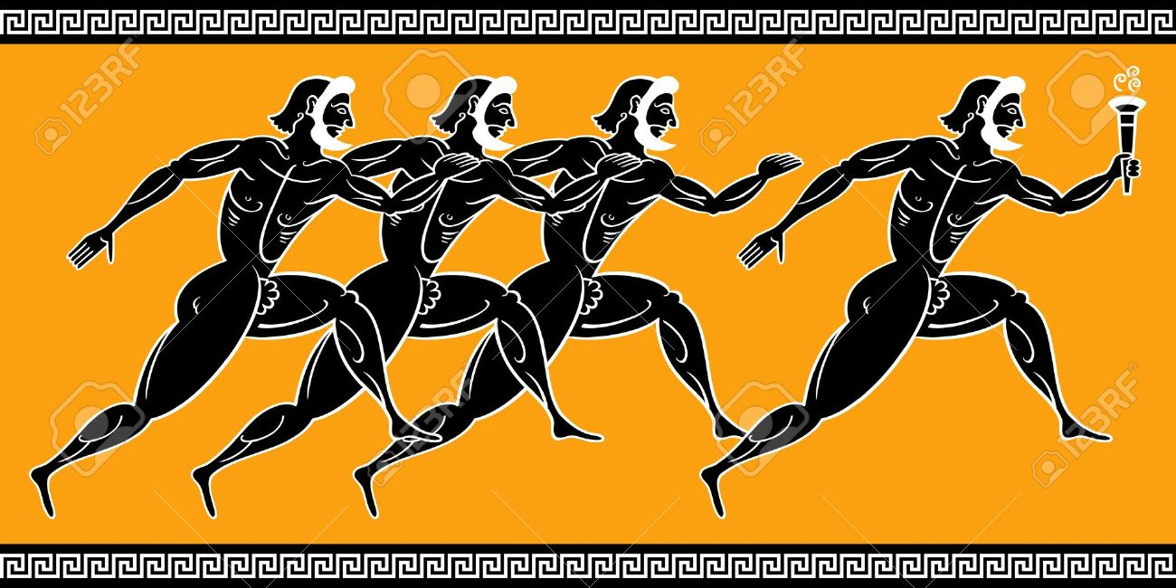 Ancient greek olympics clipart black and white Ancient greece olympics people clipart - ClipartFest black and white