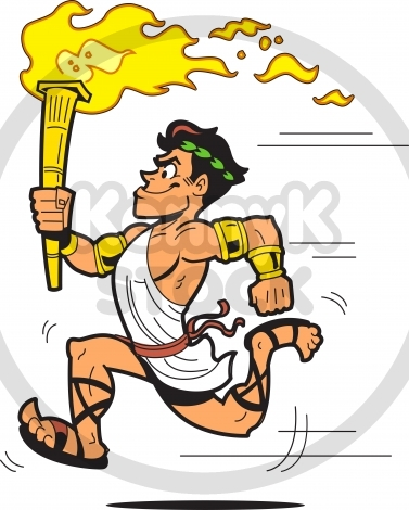 Ancient greek olympics clipart. Clipartfox olympic torch bearer