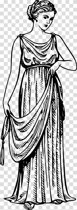 Ancient greek woman clipart png stock Ancient Greece Ancient Rome Robe Toga, greece transparent background ... png stock