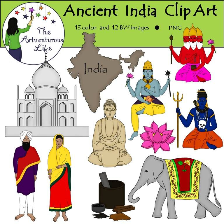 Ancient india clipart map svg black and white stock Ancient India Clip Art | The Artventurous Life Clip Art | India map ... svg black and white stock