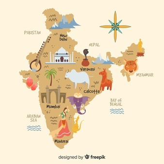 Ancient india map clipart banner freeuse India Map Vectors, Photos and PSD files | Free Download banner freeuse