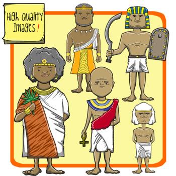 Ancient people clipart vector transparent stock People of Ancient Civilizations Clip Art: Ancient Egypt + Kush vector transparent stock