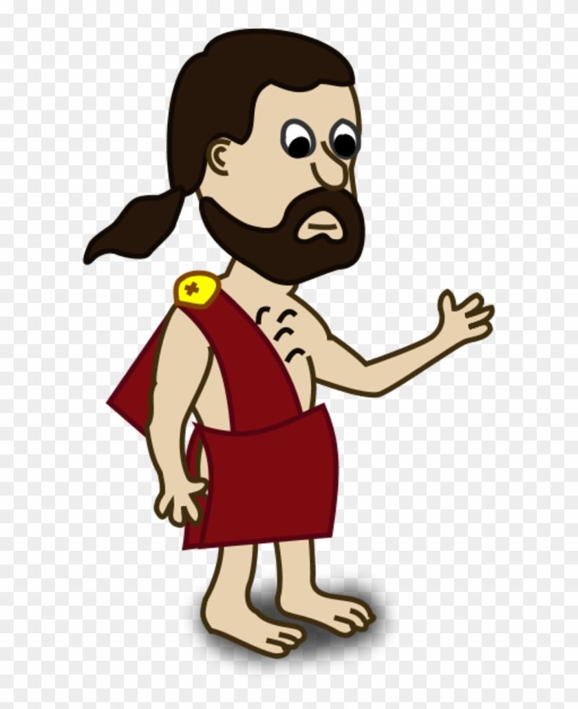 Ancient people clipart jpg transparent Man Waving Hand - Ancient Greek People Cartoon, HD Png Download ... jpg transparent
