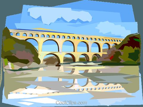 Ancient rome aqueducts clipart banner royalty free Pont du Gard Roman Aqueduct Royalty Free Vector Clip Art ... banner royalty free