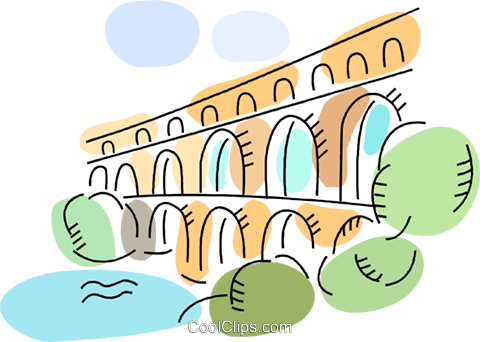 Ancient rome aqueducts clipart image royalty free download Roman Aqueducts and Walls Royalty Free Vector Clip Art illustration ... image royalty free download