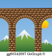 Ancient rome aqueducts clipart png royalty free Aqueduct Clip Art - Royalty Free - GoGraph png royalty free