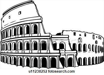 Clipart rome clip art transparent Illustration, lineart, coliseum, colosseum, rome, italy, history ... clip art transparent