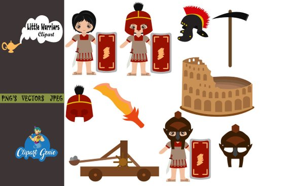 Wariorkids clipart graphic royalty free stock Roman, Colosseum Clipart, Ancient Roman clipart, warrior clipart ... graphic royalty free stock