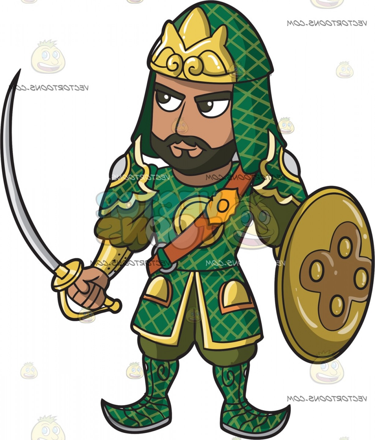 Warrior post clipart vector free stock An Indian Warrior King In Full Armor | SOIDERGI vector free stock