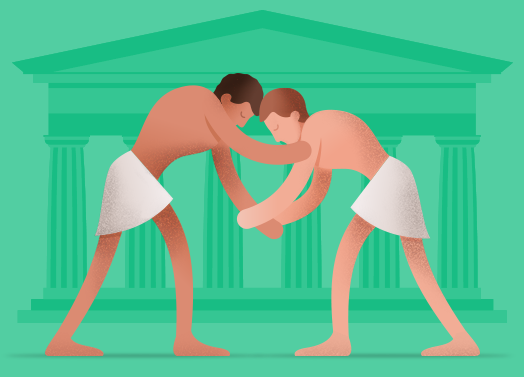 Ancient wrestler clipart image freeuse stock Free Wrestling Clipart ancient greek, Download Free Clip Art on ... image freeuse stock