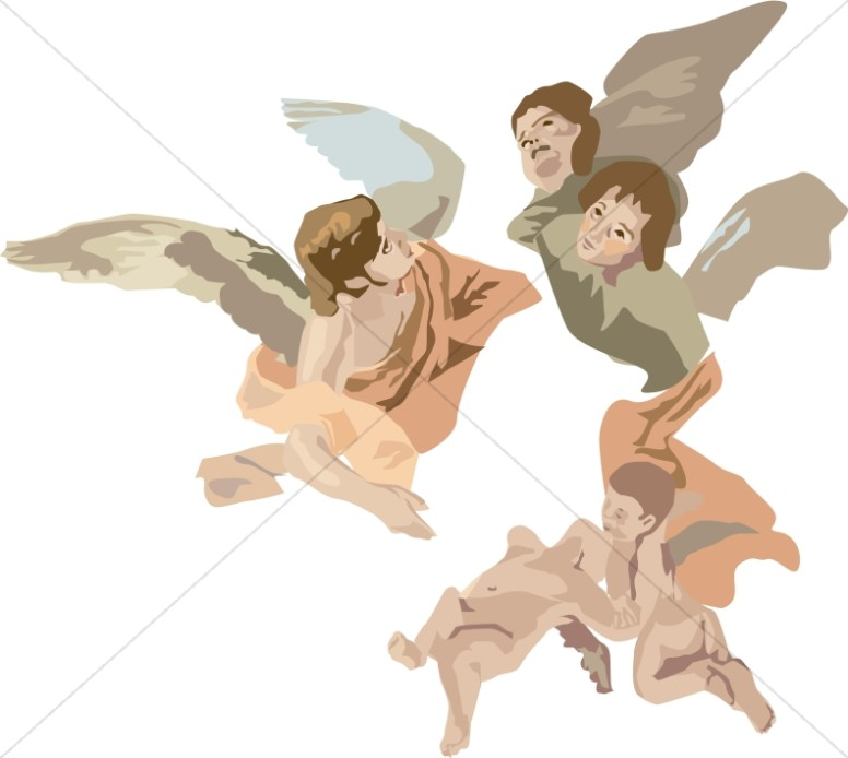 Angel swinging clipart png freeuse library Angels Look After the Garden of Eden - The Angels Became the Special ... png freeuse library