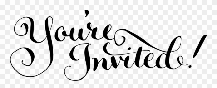 And you re invited clipart graphic free You&invited Clipart - Youre - You Re Invited Calligraphy - Png ... graphic free
