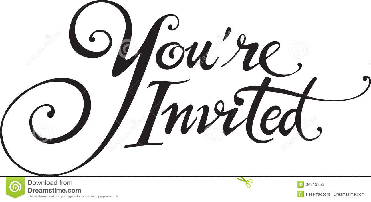 And you re invited clipart graphic freeuse download 5+ You Re Invited Clipart   ClipartLook graphic freeuse download