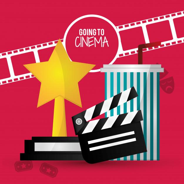 Andare al cinema clipart clip free Andare al cinema con il ciak film premio soda con la cannuccia ... clip free