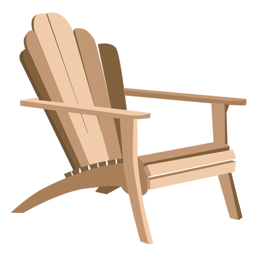 Andirondeck chair clipart transparent clip free download Adirondack armchair - Transparent PNG & SVG vector clip free download