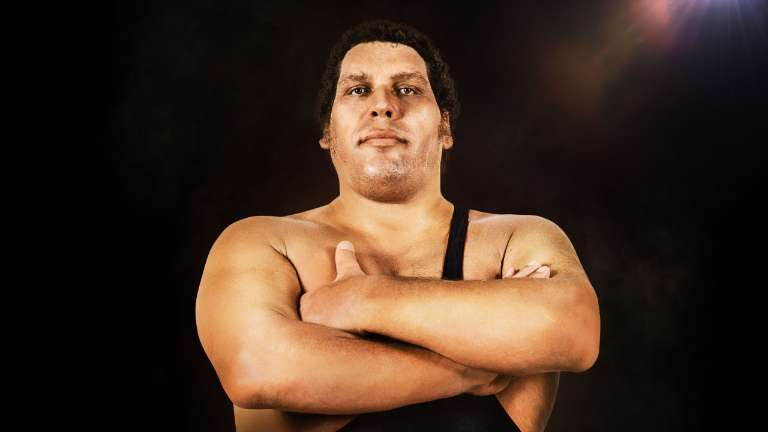 Andrea the giant black and white clipart clipart library stock Andre the Giant Andre the Giant Trailer No. 2 clipart library stock