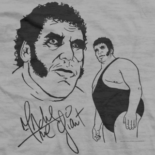 Andrea the giant black and white clipart clip Andre The Giant Official Wrestling T-shirt Store clip