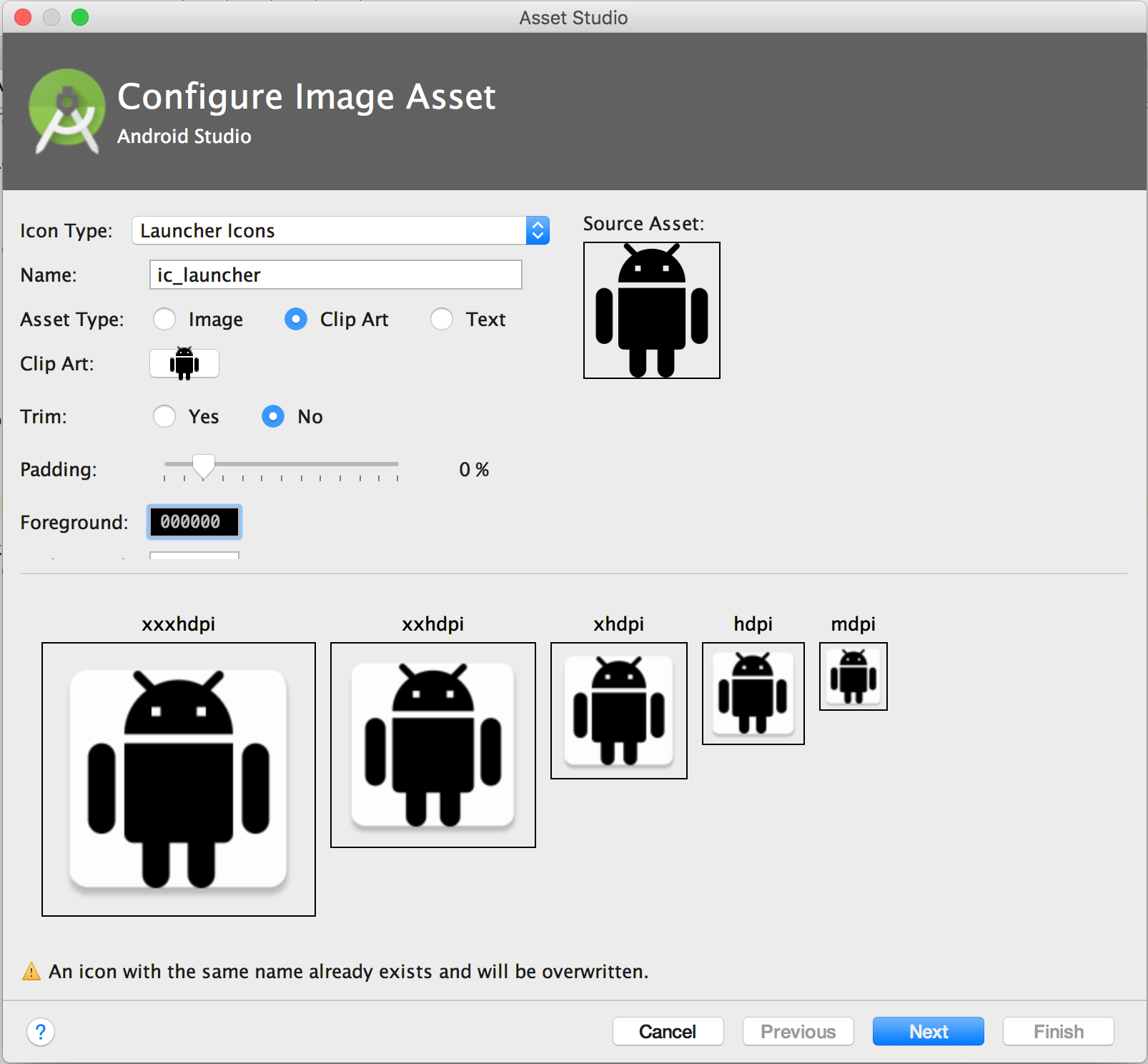 Android clipart sizes png stock Create App Icons with Image Asset Studio | Android Studio png stock
