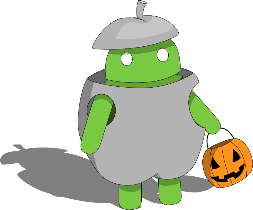 Andy apple clipart picture royalty free stock Droid Talks: Andy Wishes You a Happy Halloween! - Install or Not ... picture royalty free stock